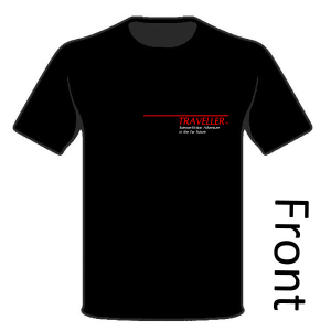 Classic Traveller T-Shirt - Logo (front) 'This is Free Trader Beowulf...