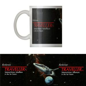 Classic  Traveller  Mug - Traveller logo with 'Referee' and starship