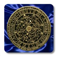 'Original' Round Tuit Blue Satin Collection Coaster