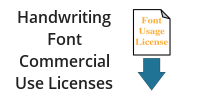 Handwriting Font Commercial Use Licenses