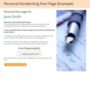 Personal Font Web Page