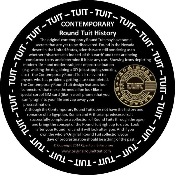 It is a photo of Versatile A Round Tuit Printable