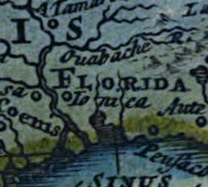 Magnified section of Planiglobii map showing Florida