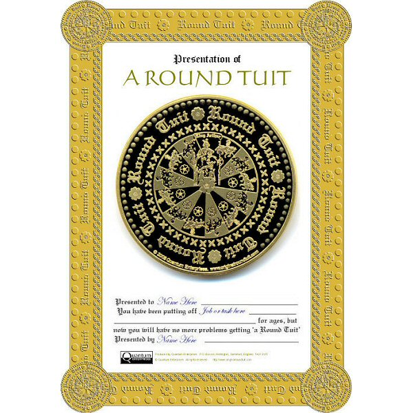 It is a graphic of Impertinent A Round Tuit Printable